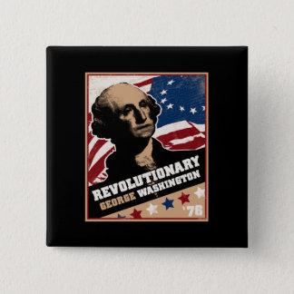 George Washington Revolutionary Mug Pinback Button