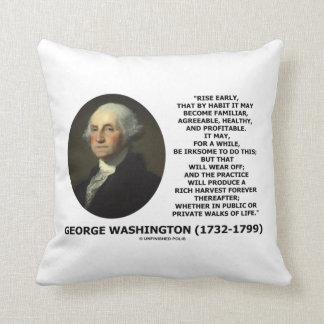 George Washington Rise Early Habit Profitable Pillow