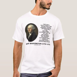 George Washington Rise Early Rich Harvest Quote T-Shirt