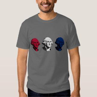 George Washington rojo, blanco, y azul Playeras