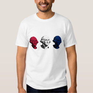 George Washington rojo, blanco, y azul Remera