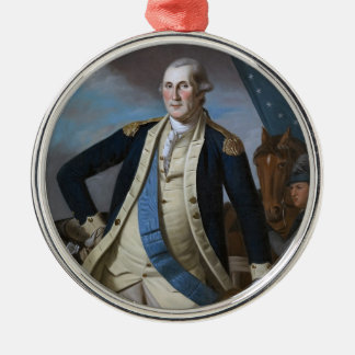 George Washington Round Metal Christmas Ornament