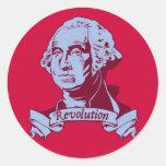 George Washington Round Stickers