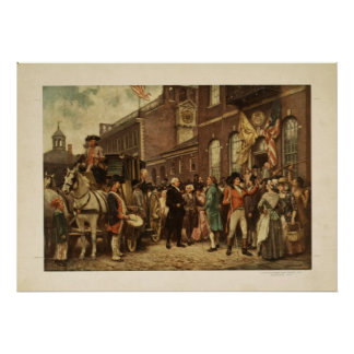 George Washington s Inauguration at Philadelphia Print