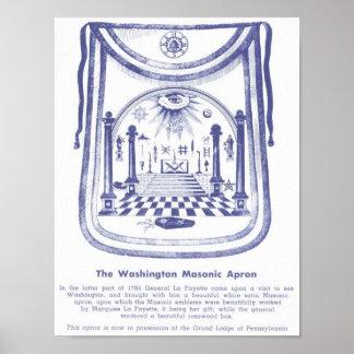 George Washington s Masonic Apron Poster