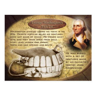 George Washington s Teeth Dentures Post Card