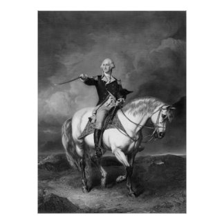 George Washington Salute poster/print Poster