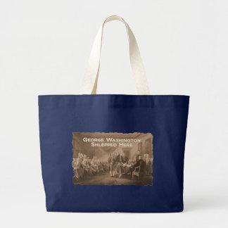 George Washington Shlepped Here Large Tote Bag