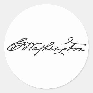 George Washington Signature Classic Round Sticker