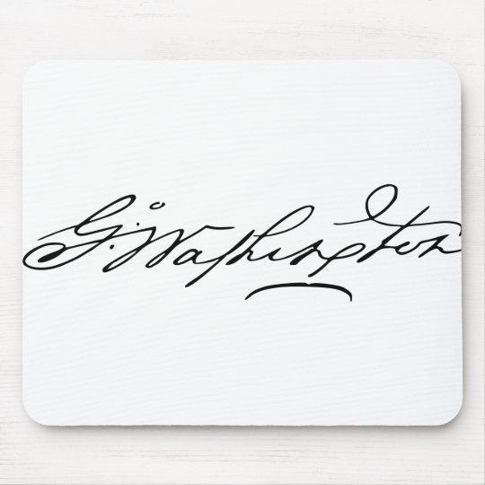 George Washington Signature Mouse Pad