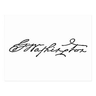 George Washington Signature Postcard