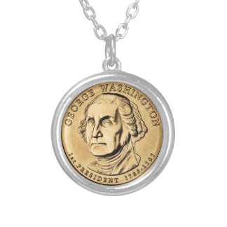 George Washington Silver Plated Necklace