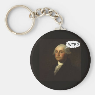 George Washington Spinning in His Grave Funny Basic Round Button Keychain