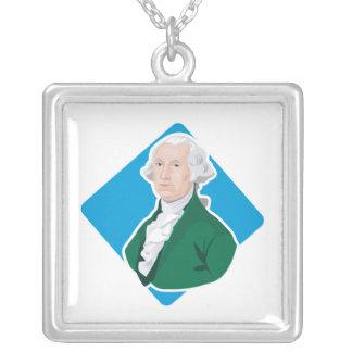 George Washington Square Pendant Necklace