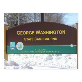 George Washington State Campground Postcard