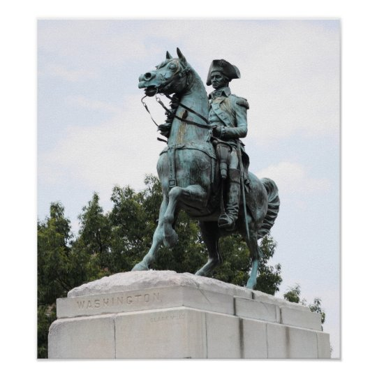 George Washington statue, Washington Circle Poster