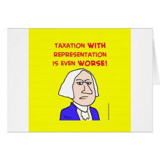 george washington taxation represenatation greeting card