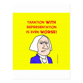 george washington taxation represenatation postcard