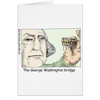 George Washington Teeth Funny Gifts & Collectibles Cards