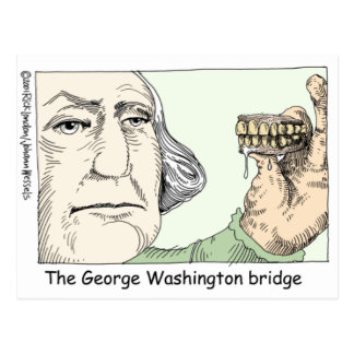 George Washington Teeth Funny Gifts & Collectibles Postcard