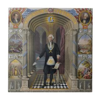 George Washington, The Mason II Small Square Tile