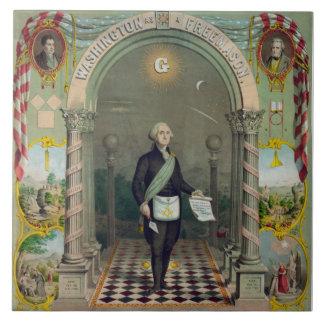 George Washington, The Mason Large Square Tile