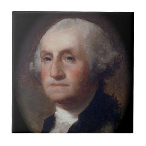 George Washington - Thomas Sulley (1820) Azulejo Cuadrado Pequeño