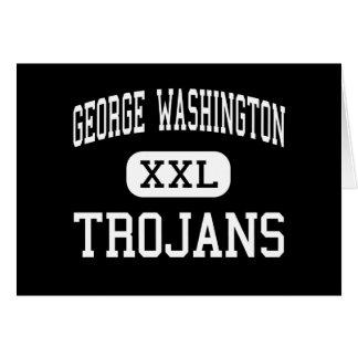 George Washington - Trojans - High - New York Card