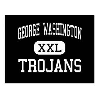 George Washington - Trojans - High - New York Post Card