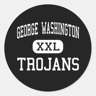 George Washington - Trojans - High - New York Sticker