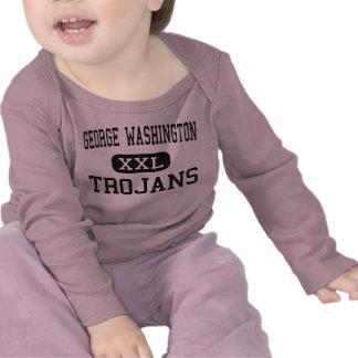 George Washington - Trojans - High - New York T-shirts