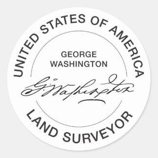 George Washington USA Land Surveyor Seal