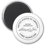 George Washington USA Land Surveyor Seal 2 Inch Round Magnet