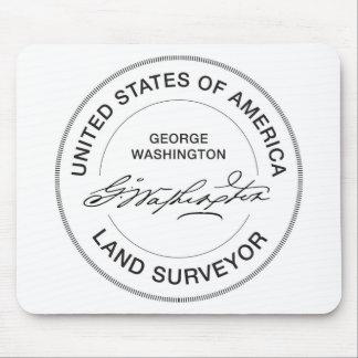 George Washington USA Land Surveyor Seal Mouse Pad