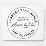 George Washington USA Land Surveyor Seal Mousepad