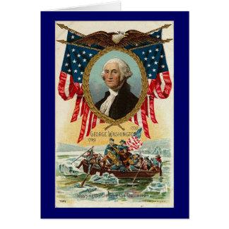 George Washington Vintage Americana Greeting Card