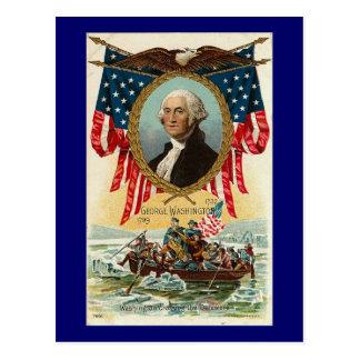 George Washington Vintage Americana Postcard