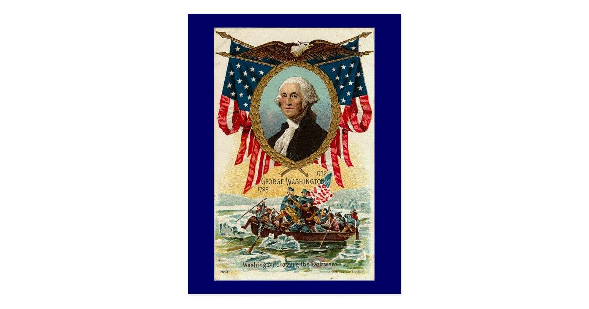 George Washington Vintage Americana Postcard Zazzle Com