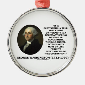 George Washington Virtue Morality Popular Gov t Christmas Ornament