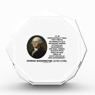 George Washington Virtue Morality Popular Gov't Award