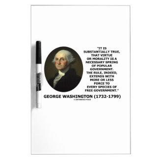 George Washington Virtue Morality Popular Gov't Dry-Erase Whiteboard