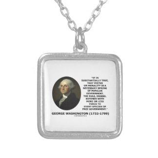 George Washington Virtue Morality Popular Gov't Jewelry
