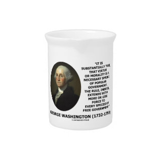 George Washington Virtue Morality Popular Gov't Pitcher