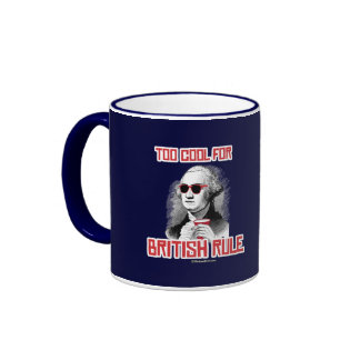 George Washington was too cool for British Rule Ringer Mug