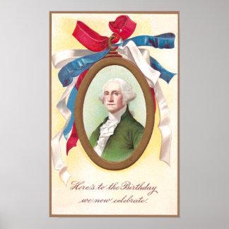 George Washington Watch Fob Poster
