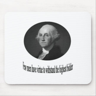 George Washington with quote Mouse Pads