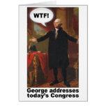 ¡George Washington WTF! Tarjeta de felicitación