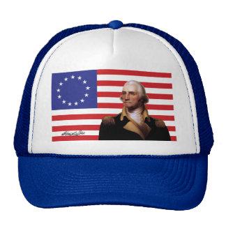 George Washington y bandera de 13-Star los Gorro