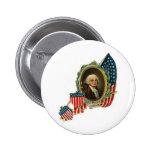 George Washington y banderas Pins