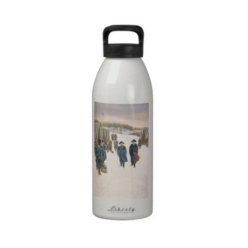 George Washington y barón von Steuben Botellas De Agua Reutilizables